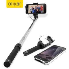 Olixar Pocketsize iPhone Selfie Stick with Mirror - Black