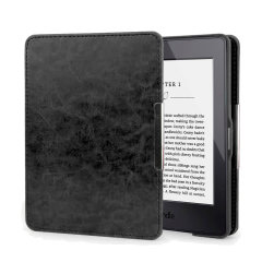 Funda Kindle Paperwhite Olixar Piel Genuina con Tapa - Negra