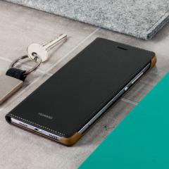 Original Huawei P8 Lite Tasche Flip Cover in Schwarz