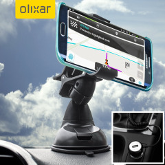Essential items you need for your smartphone during a car journey all within the Olixar DriveTime In-Car Pack. Featuring a robust one-handed phone car mount and car charger with additional USB port for your Samsung Galaxy S6 Edge+.