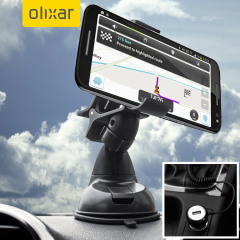 Essential items you need for your smartphone during a car journey all within the Olixar DriveTime In-Car Pack. Featuring a robust one-handed phone car mount and car charger with additional USB port for your Moto X Style.