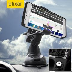 Essentiële items die je nodig hebt voor je smartphone tijdens een autorit allemaal binnen de Olixar DriveTime In-Car Pack. Met een robuuste één hand telefoon auto-mount en auto-oplader met een extra USB-poort voor je toestel