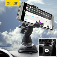 Essential items you need for your smartphone during a car journey all within the Olixar DriveTime In-Car Pack. Featuring a robust one-handed phone car mount and car charger with additional USB port for your HTC One M8.