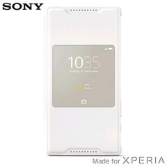 Official Sony Xperia Z5 Compact Style Cover Smart Window Case - White