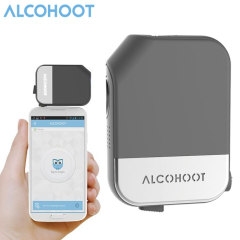 Alcohoot Android & iOS Smartphone Alkoholtester in Schwarz