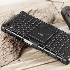 Proteja su Sony Xperia Z5 con esta resistente funda compuesta de una capa TPU y otra resistente a impactos.