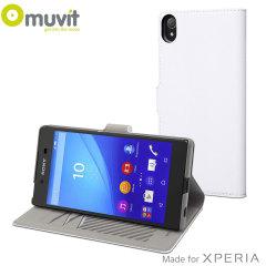 Muvit Slim S Folio MFX Sony Xperia Z5 Premium Tasche in Weiß