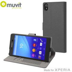 Muvit Slim S Folio MFX Sony Xperia Z5 Premium Case - Silver Grey