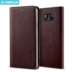 Verus Samsung Galaxy Note 5 Genuine Leather Wallet Case - Wine