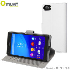 Muvit Slim S Folio MFX Sony Xperia Z5 Compact Tasche in Weiß