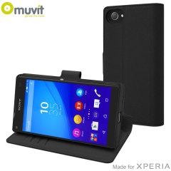 Muvit Wallet Folio MFX Sony Xperia Z5 Compact Case - Black