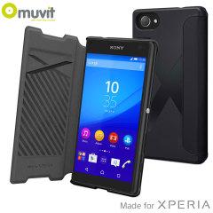 Muvit MFX MiniGel Sony Xperia Z5 Compact Case Hülle in Schwarz
