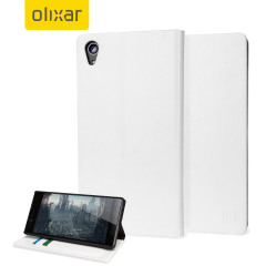 Olixar Leather-Style Sony Xperia Z5 Wallet Stand Case - White
