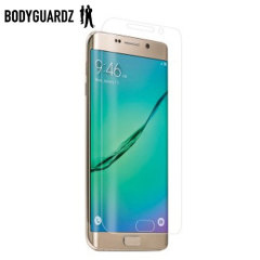 Keep your Samsung Galaxy S6 Edge+ safe and secure this ultra tough screen protector from BodyGuardz which is made from the same material used to shield the front of vehicles from rock chips.