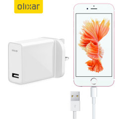 Charge your Apple iPhone 6S quickly and conveniently with this compatible 2.5A high power charging kit. Featuring mains adapter with Lightning connection cable. It's also fully compatible with iOS 8 and later, so no annoying warnings.