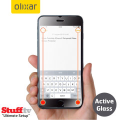 Olixar Quicktap iPhone 6S Plus Tempered Glass Displayschutz