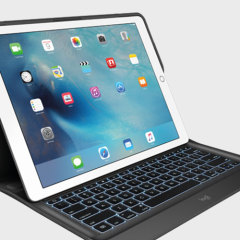 Create, explore and say more with a thin and light protective backlit keyboard case in black from Logitech that lets you type faster, while at the same time perfectly protecting your Apple iPad Pro 12.9 2015 without adding unnecessary bulk.