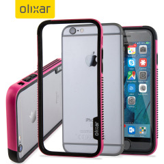 Olixar FlexFrame iPhone 6S Bumper Hülle in Hot Pink