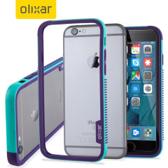 Olixar FlexiFrame iPhone 6S Bumper Case - Blauw