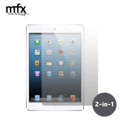 Keep your Apple iPad Mini 4's screen protected from scratches while keeping it clean and pristine with the MFX Screen Protector 2 pack.