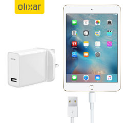 Charge your Apple iPad Mini 4 quickly and conveniently with this compatible 2.5A high power charging kit. Featuring mains adapter with Lightning connection cable. It's also fully compatible with iOS 9 and later, so no annoying warnings.