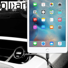 Keep your Apple iPad Mini 4 fully charged on the road with this high power 2.4A Car Charger, featuring extendable spiral cord design. As an added bonus, you can charge an additional USB device from the built-in USB port!