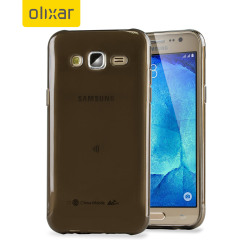 FlexiShield Samsung Galaxy J5 2015 Gel Case - Smoke Black