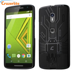 Keep your Motorola Moto X Play protected from damage with this Android-circuitry inspired, durable black coloured TPU case by Cruzerlite.