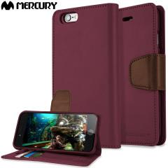 Mercury Sonata Diary iPhone 6S / 6 Premium Wallet Case - Wine