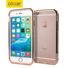 Olixar Crystal Bling iPhone 6S / 6 Metal Bumper Case - Rose Gold