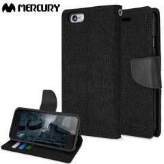Mercury Canvas Diary iPhone 6S Plus / 6 Plus Wallet Case - Black