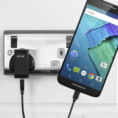 Charge your Motorola Moto X Style quickly and conveniently with this compatible 2.5A high power charging kit. Featuring mains adapter and USB cable.