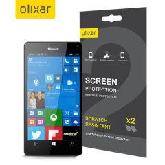 Mantenga la pantalla de su Microsoft Lumia 950 XL en las mejores condiciones con este protector de pantalla anti arañazos Olixar.