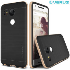 Protect your Nexus 5X with this precisely designed high pro shield series case in champagne gold from Verus. Made with tough dual-layered yet slim material, this hardshell body with a sleek bumper features an attractive two-tone finish.