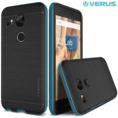 Suojaa Nexus 5X, tämä kaksivärinen kovakantinen kotelo on valmistettu kovasta kaksikerroksisesta, mutta ohuesta materiaalista.
