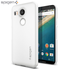 Spigen Thin Fit Nexus 5X Shell Case - Glinsterend Wit