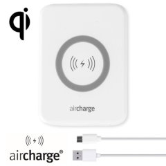 Wirelessly charge your Qi compatible smartphone or tablet with the aircharge Slimline Qi Wireless Charging Pad. Extremely discrete and portable, the Slimline enables you to easily charge wirelessly in any environment.