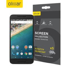 Olixar Nexus 5X Screen Protector 5-in-1 Pack