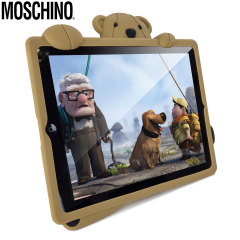 Coque iPad 2 / 3 / 4 Moschino Teddy Bear Silicone - Beige