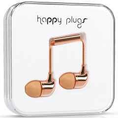 Happy Plugs In-Ear Earphones Deluxe Edition - Rose Gold