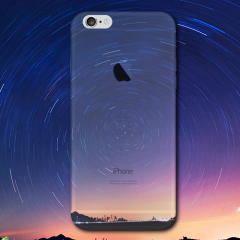 Ultra-Dunne iPhone 6S TPU Gel Case - Night Swirl