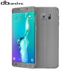 dbrand Textured Samsung Galaxy S6 Edge Plus Cover Skin Titanium Silber