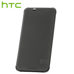 Keep your case closed and still receive notifications with the official HTC Desire 620 Dot View case in warm black. Featuring full front and rear protection.