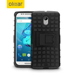 Protect your Moto X Style with this black ArmourDillo Case, comprised of an inner TPU case and an outer impact resistant exoskeleton.