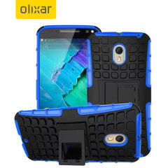 Protect your Moto X Style with this blue ArmourDillo Case, comprised of an inner TPU case and an outer impact resistant exoskeleton.