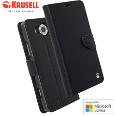 Krusell Boras Microsoft Lumia 950 Folio Wallet Case - Black