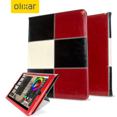 Olixar Wallet Stand iPad Pro 12.9 Zoll Smart Case Hülle in Chequered