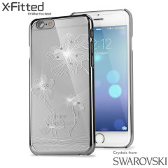 X-Fitted Lotus iPhone 6S / 6 Case w/ Swarovski Elements - Silver