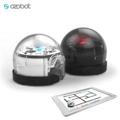 Ozobot 2.0 Bit Robot in Titanium Schwarz & Kristall Weiß