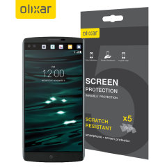 Keep your LG V10 screen in pristine condition with this Olixar scratch-resistant screen protector 5-in-1 pack.